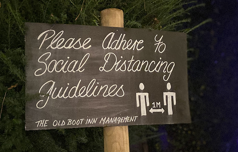 Please adhere to social distancing guidelines