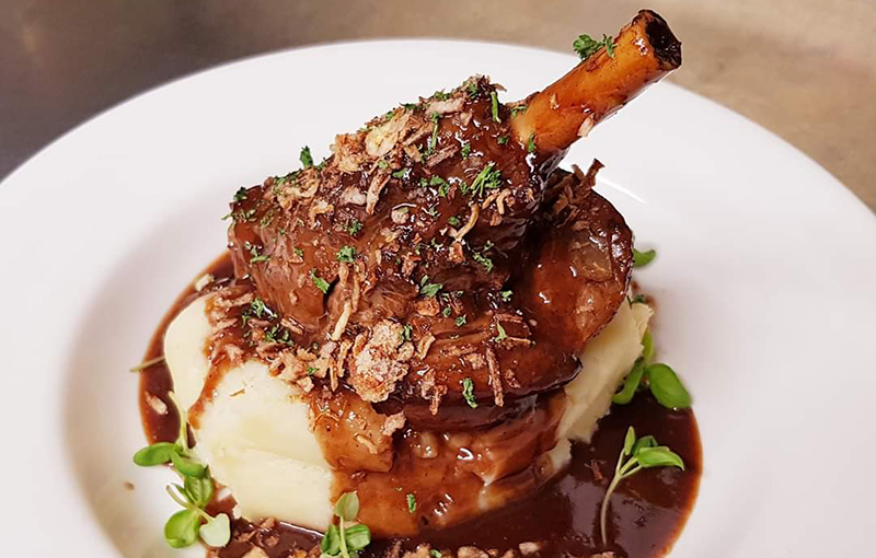 A La Carte menu, Lamb Shank, Old Boot Inn Stanford Dingley
